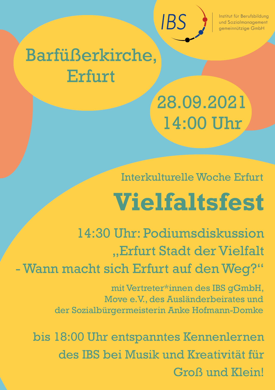 Flyer zum Vielfaltsfest